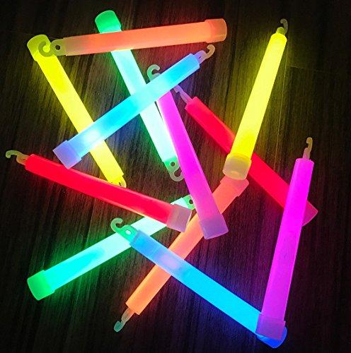 (molinoRC | 25x Power Knicklichter Bulk | 150x15 mm FETT und HELL Leuchtstäbe | 6 Farben Öse | Knicklichter Leuchtstäbe | Armreifen Glowstick | Partylichter Neon | rot gelb grün pink orange blau)