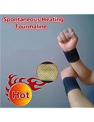 freshocity (TM) Pierre Naturelle auto-chauffant tourmaline poignet bourses Bracelet réglable pour santé Soins turmalina (Chauffage spontanée