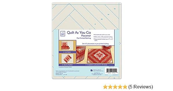 June Tailor Quilt as You Go Placemat Multi-Colour 24.38 x 28.95 x 8.38 cm