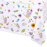WERNNSAI Unicornio Mantel de Cumpleaños - 132 x 220 cm Desechable Manteles de Plástico Tema del Unicornio Cumpleaños Suministros para la Fiesta para Chicas Decoración de la Mesa Rectangular