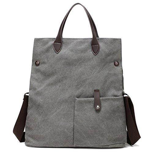 Ladies singola borsa a tracolla,borsa di tela,messenger bag/borsetta-marrone grigio