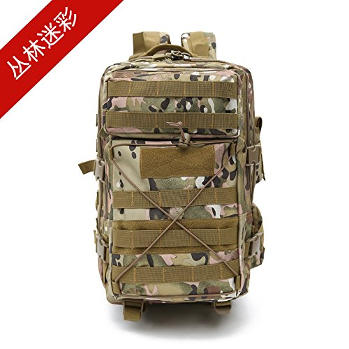 Gli sport outdoor camouflage zaino multifunzionale per appassionati di trekking Alpinismo borsa zaino spalla 48*28*19cm, jungle camouflage Numero