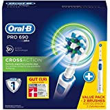 Oral-B PRO 690 Cepillo dental oscilante Azul, Color blanco - Cepillo de dientes eléctrico (Batería)