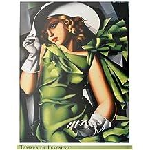 Tamara de Lempicka Dame in grün Poster Kunstdruck Bild 80x60cm - Germanposters