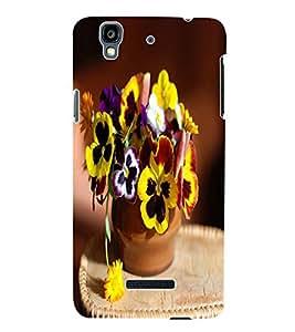 Fuson 3D Printed Flowers Designer Back Case Cover for Yu Yureka Plus - D764