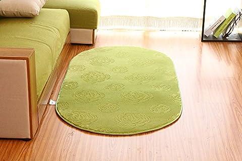 sannix 3D Rose Blume Muster Shaggy Bereich Teppiche und Teppich Schlafzimmer Oval Super Soft Teppich Teppich für Kinder spielen, grün, (Dark Pink Bereich Teppich)