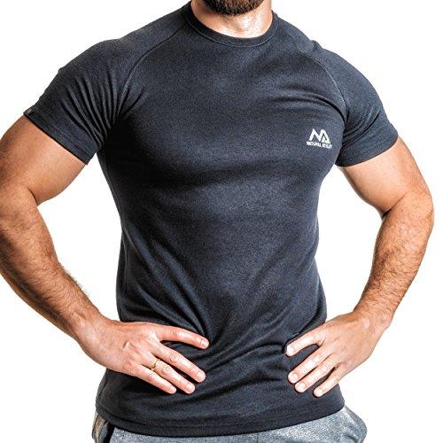 Winter Training Sport T-Shirt für Herren - Slim Fit mit Rundhals -Thermo - Laufen Im Winter T-shirt