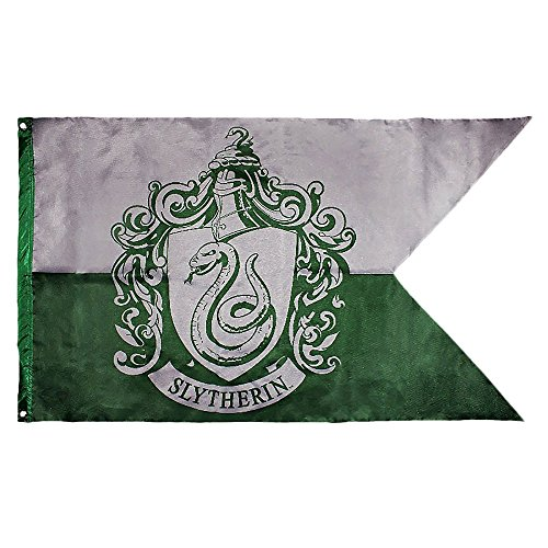 Harry Potter - Slytherin - Flagge - 70 x 120 cm | Originales Merchandise Slytherin Flagge