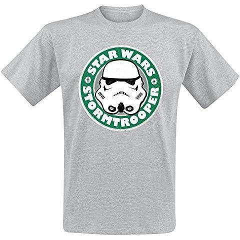 Hombre Gris Stormtrooper Emblema Star Wars T Shirt