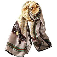 DYEWD sciarpe di Seta di Alta qualità, Colletto a Catena Freddo Caldo,  Sciarpa Medio 815e7d3331b