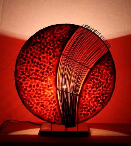 Asiatische Tischleuchten Assan Red M (LA12-126/RO/M), Tischlampen, Designer Stimmungsleuchten, Bali - Asiatische Tischleuchte