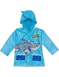 Shark in the Sea - Boy's Blue Rain Coat