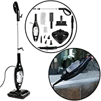 Ovation 1300W 13-in-1 Multi Purpose Upright & Hand Held Complete Steam Mop Cleaner System with 300ml Capacity