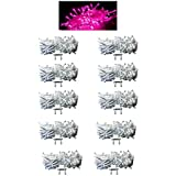 Exmade Pink LED Rice Light 15 Metre (Pack Of 10)