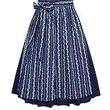 Almsach Damen Trachten-Mode Price Midi Dirndl Bine in Dunkelblau traditionell, Größe:46, Farbe:Dunkelblau Test