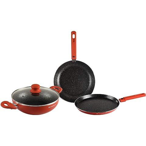 Wonderchef Power Cookware Set of 3    Orange