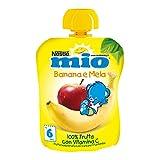 Nestlé Mio Frutta Grattugiata da Spremere Melabanana 100% Frutta senza Glutine da 6 Mesi, 90ml - [confezione da 16]