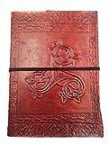 Chic & Zen - Carnet, bloc notes, journal, livre, Cuir Véritable, Vintage, Triskel 13 cm * 17 cm, papier premium