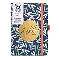 Busy B to Do Diary January to December 2020 - A6 Floral Week to View Diary with Notes, Tear-Out Lists & Pockets