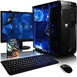 VIBOX Ultra 11XSW - Ordenador para gaming (21.5', AMD A8-7600, 16 GB de RAM, 2 TB de disco duro, AMD Radeon R7, Windows 10) color neón verde - Teclado AZERTY Francés