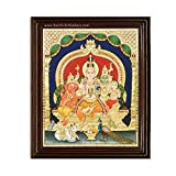Sandiv Art Gallery of Lord Shiva Family Tanjore Painting  Painting Dimensions : All inch of Shivan Family Tanjore photo paintings on wallMaterial - Wood; Color: Multi frame photo. People worship these two deities together to welcome wealth along with...