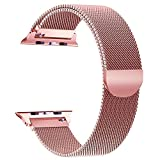 Tervoka für Apple Watch Armband 38mm(40mm Series 4), Milanese Schlaufe Edelstahl Smart Watch Armbänder mit einzigartiger Magnetverriegelung für Apple Watch Armband 38mm 40mm Series 4/3/2/1, Rose Gold