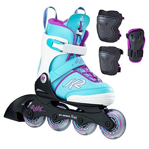 K2 Kinder Inline Skate Marlee Pro Pack Inlineskate, Hellblau, 35