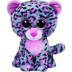 Ty Leopardo Peluche, Juguete, Color Gris, 23 cm (United Labels Ibérica 37038TY)