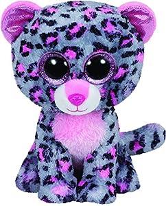 Ty- Leopardo Peluche, Juguete, Color Gris, 23 cm (United Labels Ibérica 37038TY)