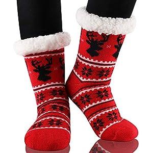 Calmare Mujeres zapatillas calcetines, señoras