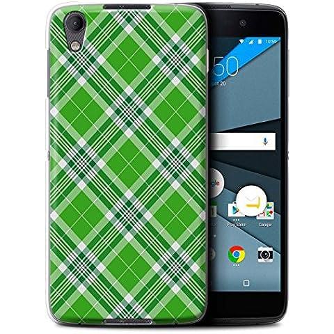 Carcasa/Funda STUFF4 dura para el BlackBerry Neon/DTEK50 / serie: Picnic Tartán Diseño - Verde