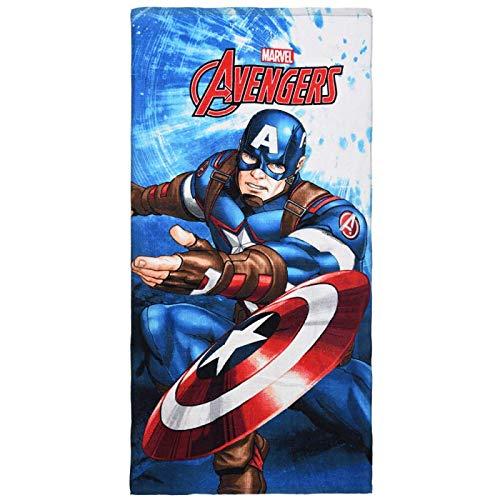 Captain America Marvel Avengers- Tolle Gechenkidee für Kinder - Handtuch/Saunatuch / Strandtuch/Duschtuch / Badetuch - 70 x 140 cm - Baumwolle