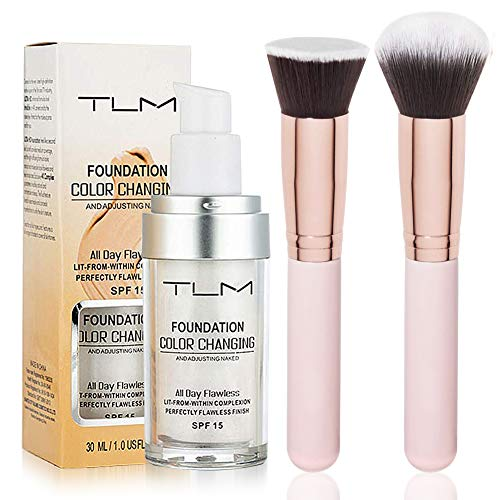 TLM Foundation Color Changing,TLM Concealer Cover, 30ml Concealer -Abdeckung Flawless Farbwechsel Warmer Hautton Foundation -