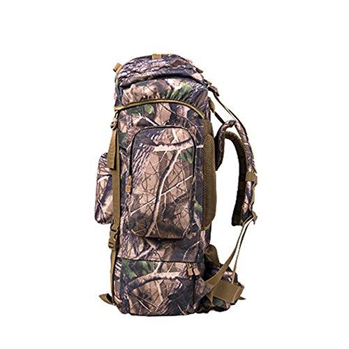 BM Zaino Outdoor escursionismo borsa zaino 100L grande capacità per il tempo libero viaggi sport borse da viaggio per uomini e donne a piedi , cp camouflage forest camouflage