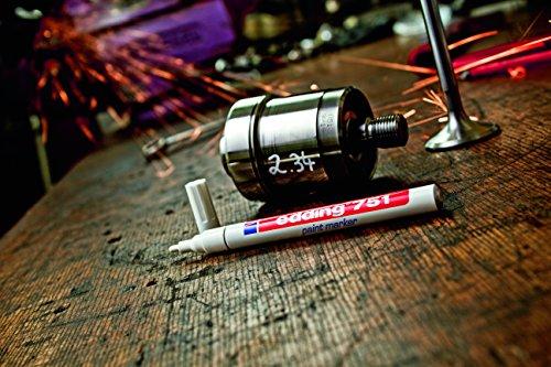 Edding 4751004 751 Glanz-Lackmalstift-Marker Creative, 1 - 2 mm, grün
