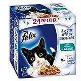 Felix So gut wie es aussieht Fisch Mix 24x100g Katzenfutter von Purina