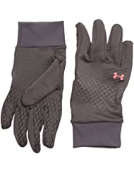 Under Armour - Guantes para mujer, talla L, color gris