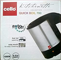 Cello Quick Boil 700 0.5-Litre 1000-Watt Kettle