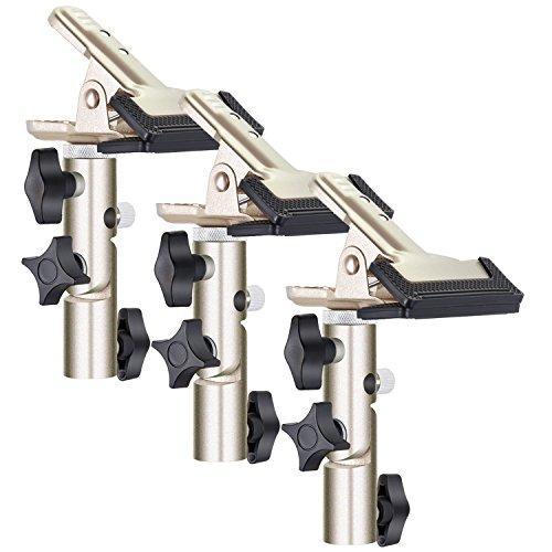 Neewer 3-Pack schwerlast Metall Federklammerhalter mit 5/8