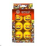 Emoji-Unisex 6Pack Herz Augen Novelty Fun Golf Bälle, Mehrfarbig