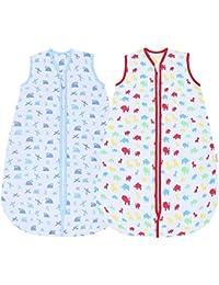 snoozebag Twin Pack Planes & Trenes + Jungla Fun 100% algodón 2,5 tog niños Nursery – Saco de dormir para bebé,…