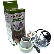 "Reptile Vivarium Ceramic Kit Bulb Lamp Heater Holder Straight Mounting Screw Type ES 1"""
