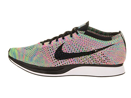 Nike Flyknit Racer, Chaussures de Running Entrainement Homme green strike, black-blue lagoon