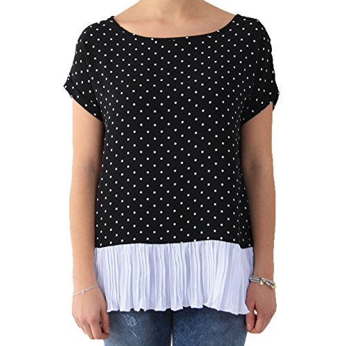 Kontatto - T-shirt - Femme noir/blanc