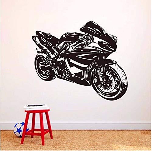Zxfcczxf Klasse Motorrad Wandaufkleber Ausgangsdekor Wandtattoo Für Jungen Zubehör Vinyl Wandbild Selbstklebende Dekorative Motorrad Modell55 * 70 Cm