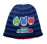 PJ Masks Wintermütze Beanie Bommelmütze Frog Box (52, Beanie-Blau)