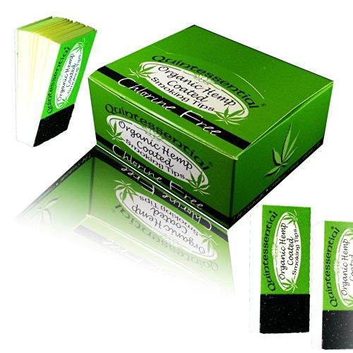 3 x neue Quintessential smoking Spitzen-Made in Eu-Organic HEMP COATED TIPS (Spitzen)