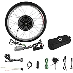 Blackpoolal 26 Zoll 36V 250W E-Bike Conversion Kit Elektrofahrrader Umbausatz Cassette mit Frontmotor Electric Bike Front Wheel Cycling Hub Motor