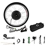 Blackpoolal 26 Zoll 36V 250W E-Bike Conversion Kit Elektrofahrrader Umbausatz Cassette mit Frontmotor Electric Bike Front Wheel Cycling Hub Motor