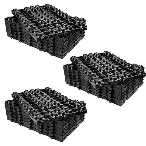 60 Stück = 14,4 qm extrem robuste Rasengitter Paddockplatten 60x40x4 cm - Rasengitterplatten